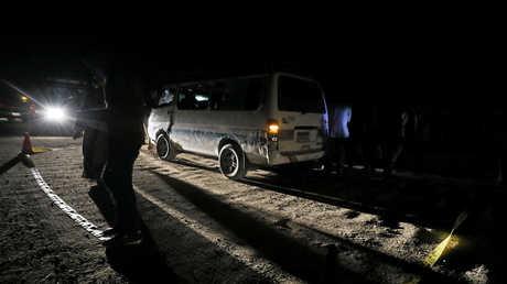 موقع الهجوم على حافلة كانت تقل مجموعة أقباط وسط مصر (2 نوفمبر 2018)