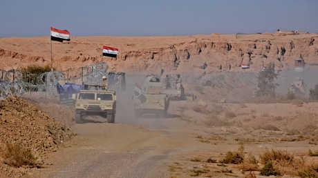 تعزيزات للجيش العراقي في منطقة القائم