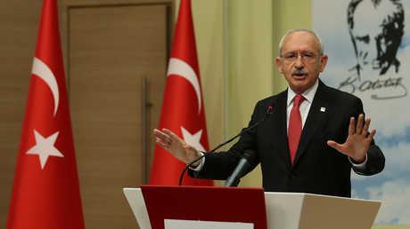 """رئيس """"حزب الشعب الجمهوري""""، أكبر قوة سياسية معارضة في تركيا، كمال كليتشدار أوغلو"""