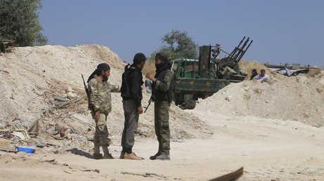 مسلحون في محافظة إدلب السورية