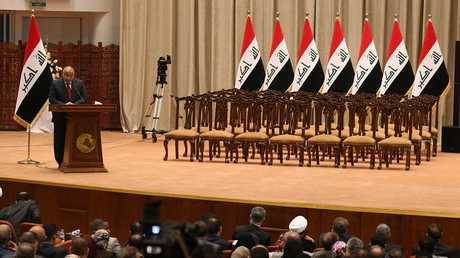 جلسة إعلان تشكيلة الحكومة العراقية الجديدة - أرشيف