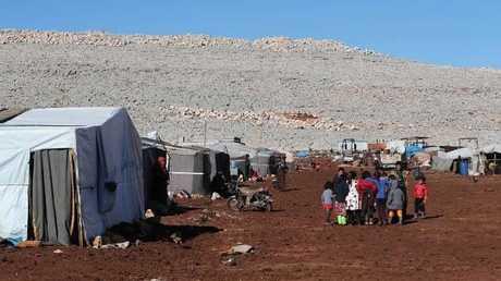صورة ارشيفية للاجئين سوريين