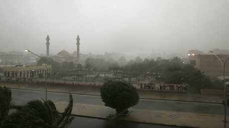 موجة الأمطار التي تشهدها الكويت