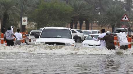 الأمطار في الرياض بالسعودية