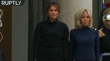 بريجيت ماكرون تستقبل ميلانيا ترامب في قصر الإليزيه