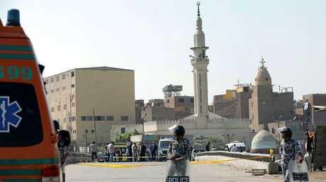 الأمن المصري قرب أحد كنائس القاهرة - أرشيف