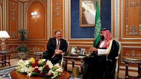 وزير الخارجية الأمريكية مايك بومبيو وولي العهد السعودي محمد بن سلمان