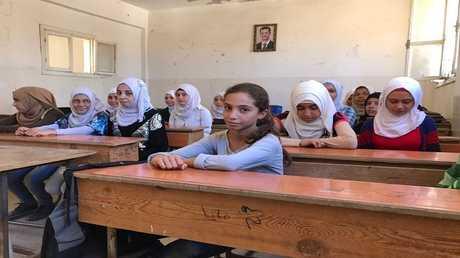 مدرسة ابتدائية في سورية - ارشيف