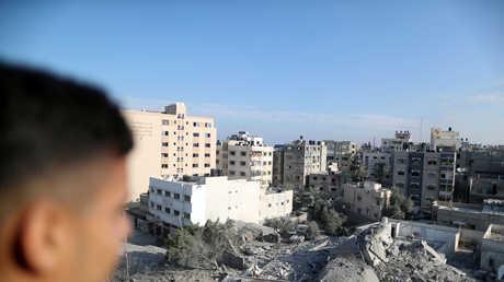 حطام منزل مدمر بقصف إسرائيلي طال مدينة غزة، 13/11/2018