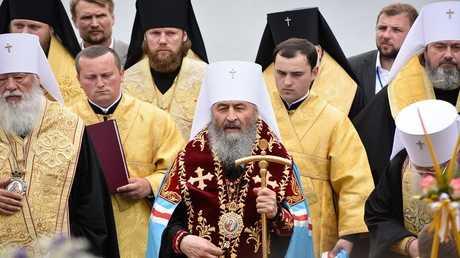 المطران أونوفري، راعي الكنيسة الأرثوذكسية الأوكرانية التابعة لبطريركية موسكو (صورة من الأرشيف)