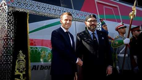 العاهل المغربي محمد السادس والرئيس الفرنسي إيمانويل ماكرون