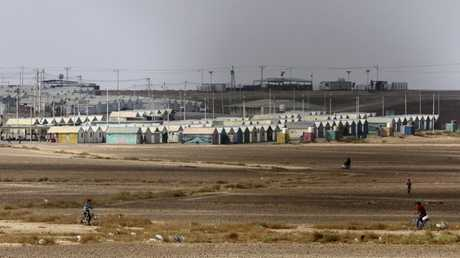 مخيم للاجئين السوريين شمال الأردن