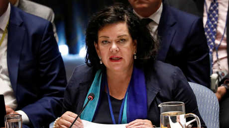 المندوبة البريطانية الدائمة لدى الأمم المتحدة، كارين بيرس