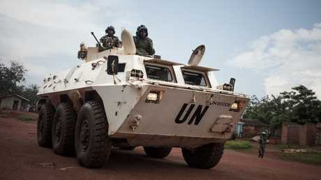 دورية لقوات حفظ السلام في جمهورية إفريقيا الوسطى