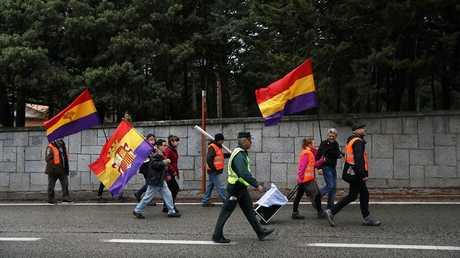 تظاهرة لإحياء ذكرى الجنرال فرانشيسكو فرانكو بالعاصمة الإسبانية مدريد