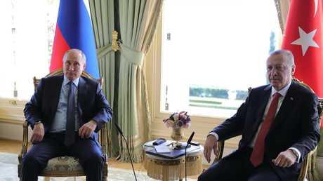 لقاء الرئيسين التركي رجب طيب أردوغان والروسي فلاديمير بوتين في اسطنبول، 27 أكتوبر 2018