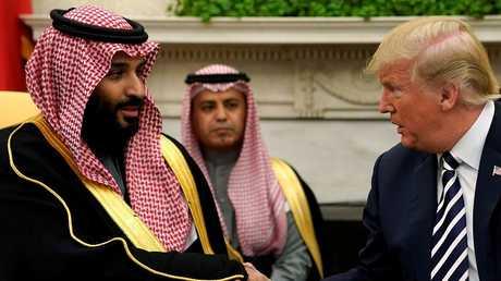 ترامب ومحمد بن سلمان في البيت الأبيض، 20 مارس 2018