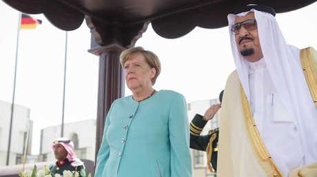 العاهل السعودي، سلمان بن عبد العزيز، والمستشارة الألمانية، أنغيلا ميركل