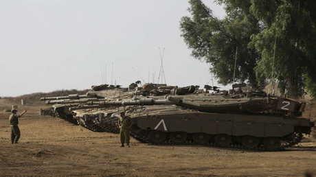 دبابات إسرائيلية في الجولان المحتل