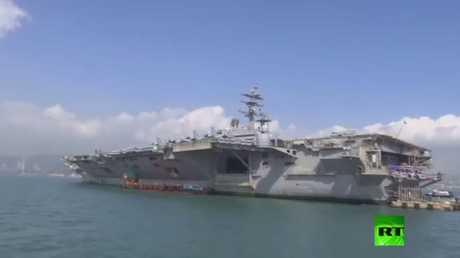 حاملة طائرات أمريكية تصل إلى هونغ كونغ وسط توترات مع بكين