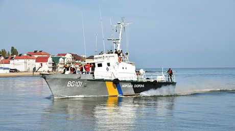 سفينة تابعة لخفر السواحل الأوكراني في بحر آزوف