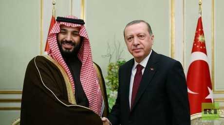 الرئيس التركي رجب طيب أردوغان وولي العهد السعودي الأمير محمد بن سلمان