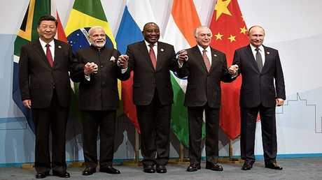 زعماء دول بريكس أثناء قمتهم العاشرة في جنوب أفريقيا، يوليو 2018
