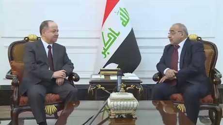 محادثات بين عبد المهدي وبارزاني ببغداد