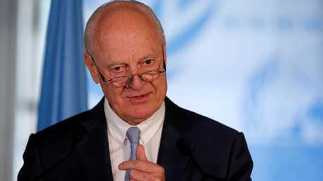 المبعوث الأممي الخاص إلى سورية، ستيفان دي ميستورا