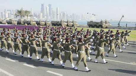 احتفالات بمناسبة اليوم الوطني لدولة قطر في الدوحة في 18 ديسمبر 2010