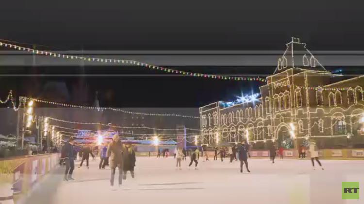 افتتاح ساحة التزلج في الساحة الحمراء