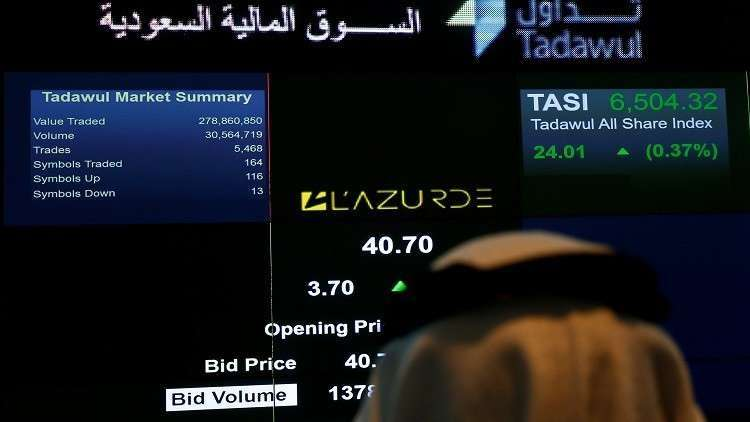 Saudi stocks reached their highest level in one month