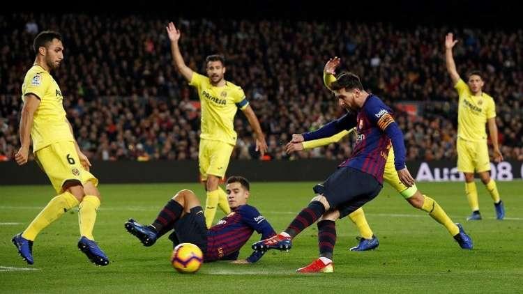 بالفيديو.. برشلونة يغرق الغواصات الصفراء