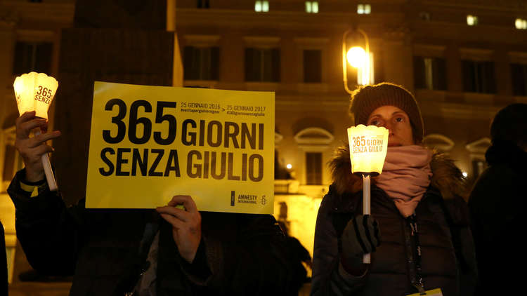 إيطاليا تفتح تحقيقا مع 5 عناصر أمن مصريين بينهم جنرال في قضية مقتل ريجيني