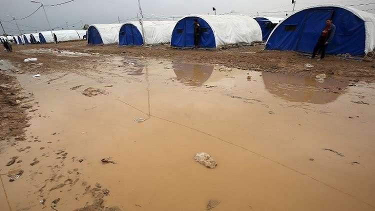 العراق.. غرق 3 آلاف خيمة للنازحين