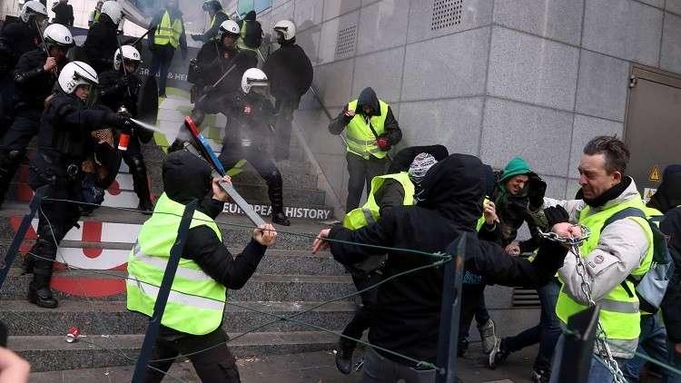 الشرطة البلجيكية تعتقل 450 من أنصار
