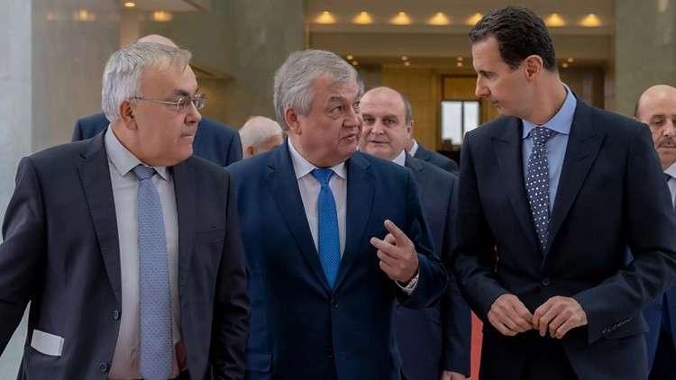 الأسد يبحث مع وفد روسي رفيع تشكيل اللجنة الدستورية السورية
