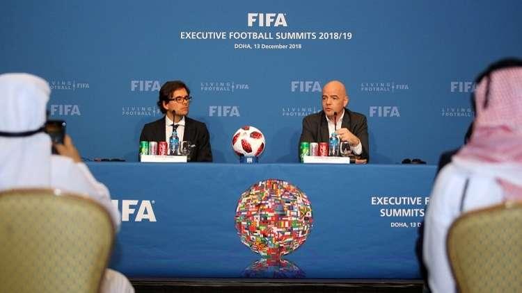 الفيفا يدرس فكرة زيادة عدد المنتخبات في مونديال قطر