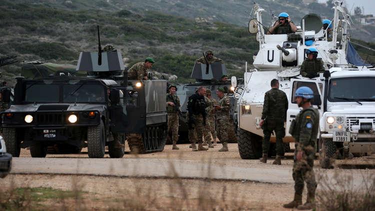 عناصر للجيش اللبناني واليونيفيل عند حدود إسرائيل