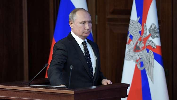 بوتين: الثالوث النووي الروسي يتعزز وسنواصل حربنا على الإرهاب في سوريا بلا رحمة
