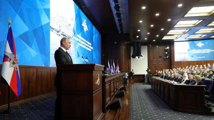 بوتين: لا مانع لانضمام أطراف أخرى لمعاهدة الصواريخ وخروج واشنطن سيهدد هيكلية الأمن الدولي