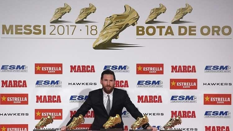 ميسي يتسلم الحذاء الذهبي الخامس في تاريخه (فيديو)