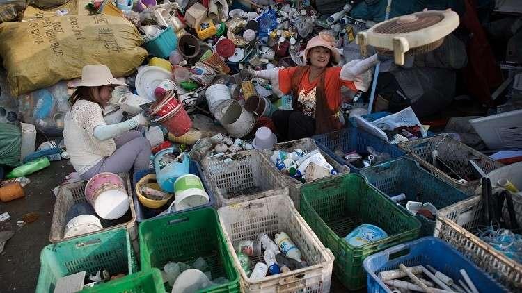 النفايات في الصين
