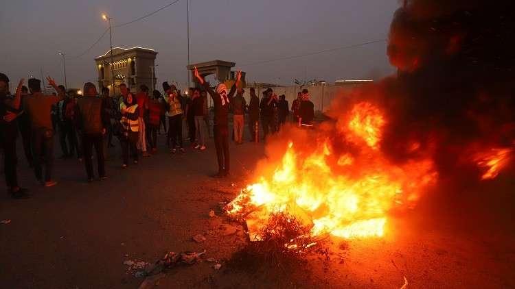 الأمن العراقي يفرق احتجاجات ليلية في البصرة