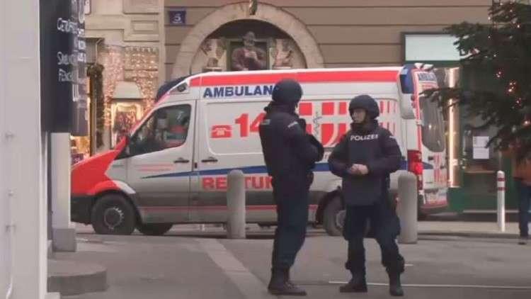 محل إطلاق النار وسط العاصمة النمساوية فيينا