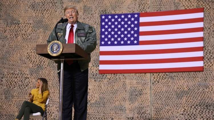 Trump visits U.S. troops in Iraq for first trip to a conflict zone 5c23f4c995a59712218b4631