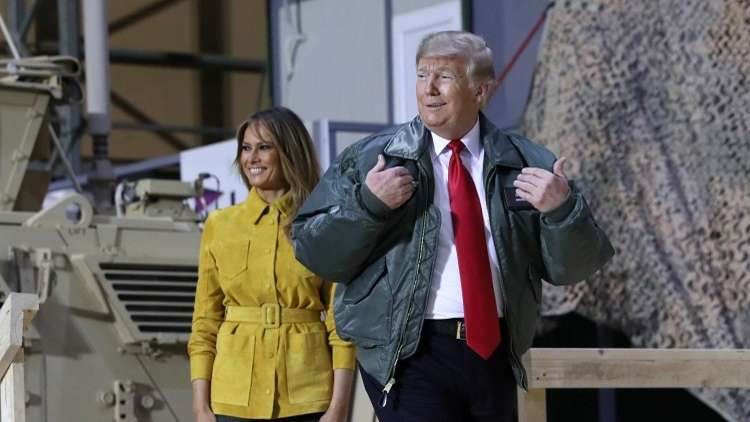 Trump visits U.S. troops in Iraq for first trip to a conflict zone 5c23fbb8d437500e418b465b