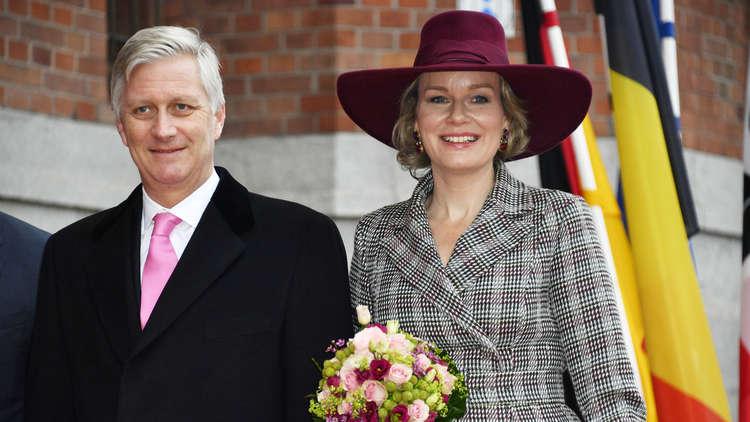 ملكة بلجيكا برفقة زوجها
