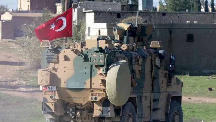 عربة عسكرية تركية في ضواحي منبج