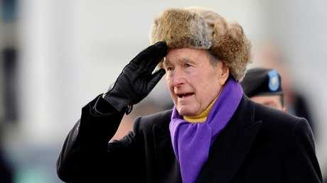 أرشيف - الرئيس الأمريكي الأسبق جورج بوش الأب، واشنطن، 20  يناير 2009